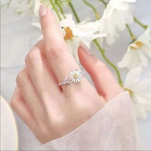 Real Sterling Silver Plant Adjustable Ring
